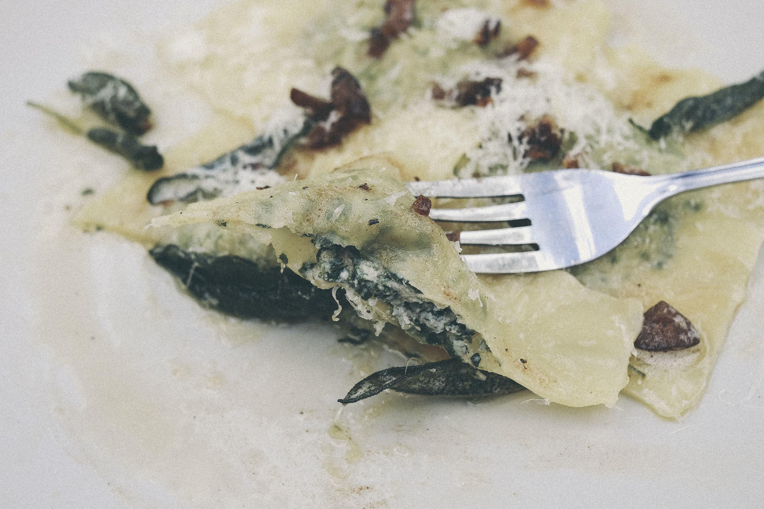 dérrive recipe - the most delicate chestnut, spinach and ricotta ravioli www.derrive.com