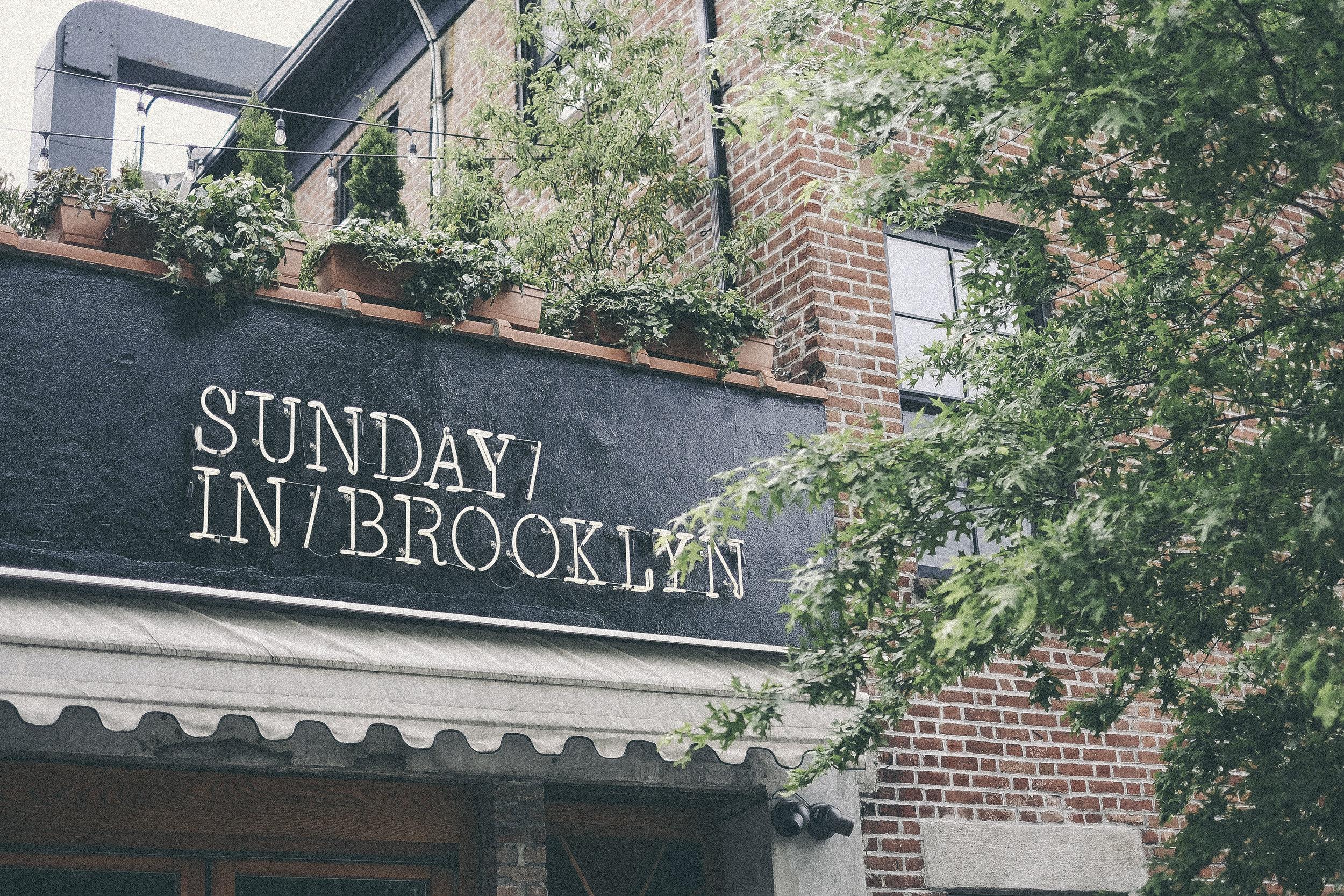 sunday in brooklyn, new york