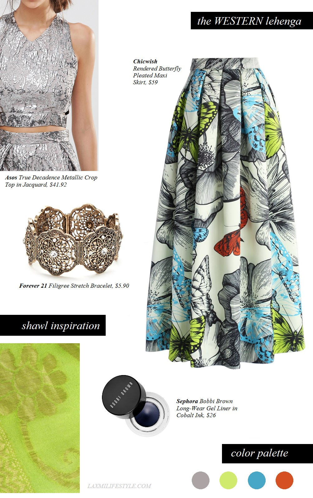 TOP   Asos  /  SKIRT   Chicwish  /  BRACELET :  Forever 21  /  KOHL :  Sephora