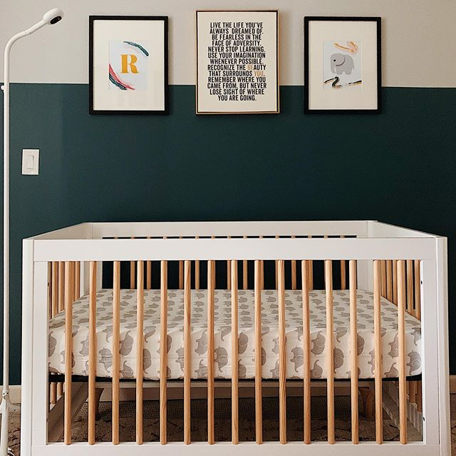 I love the idea of creating a space for Reya to grow & learn; a home that fosters not only knowledge but fun and creativity! ✨💫 Our Reya baby loves her crib and staring at the frames on the wall! We chose a subtle elephant theme because her name also means the goddess Lakshmi, whose two animals often accompanying her are the owl and elephant! 🐘#nurseryroom #mybabygirl