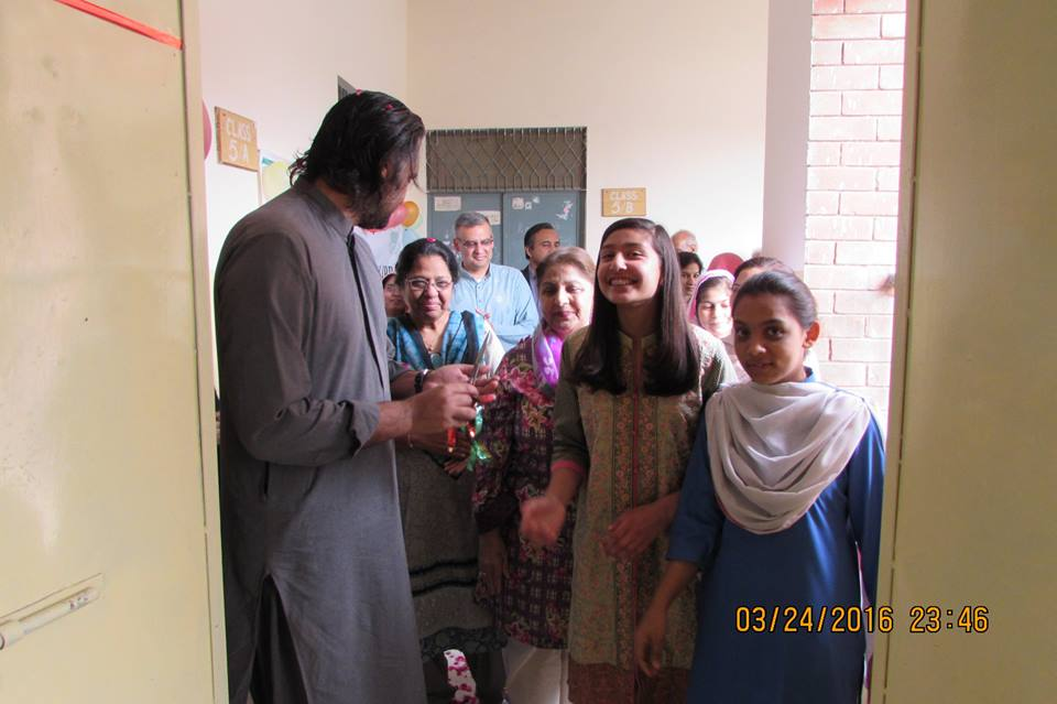 THE OPENING OF OUR FIRST LIBRARY, MADE IN THE BECS GOVERNMENT GIRLS' SCHOOL IN PAKISTAN IN MARCH, 2016.