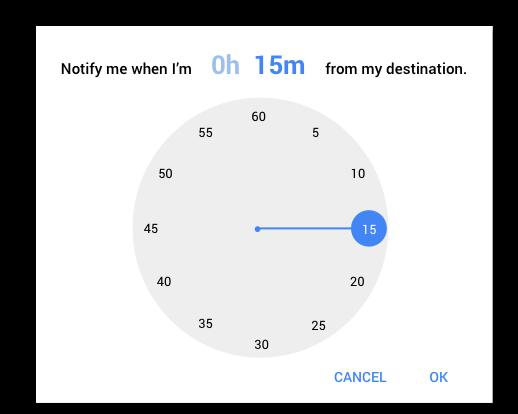 Google Time Picker