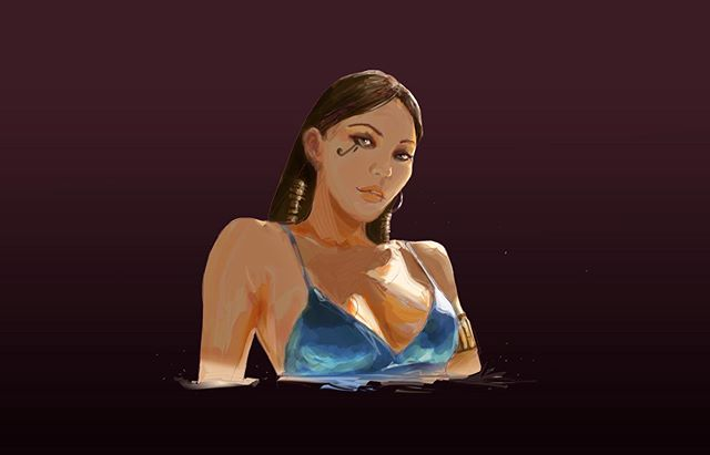 Summer wrapping up!  Hello Fall 👌 Also check out summer Pharah #overwatch  #digital #design #illustration #art #drawing #artcommunity #visualart #doodles #fanart #summer #swimsuit #beachbod #pharah #overwatch_arts #female #portrait