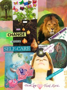 Leo New Moon Collage by Dawn P. Anderson