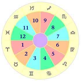 houses of an astrology chart