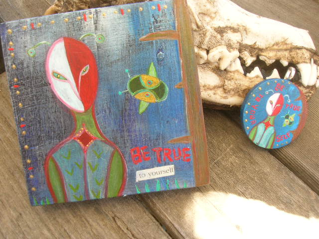 Be true to yourself painting by Kathy Crabbe