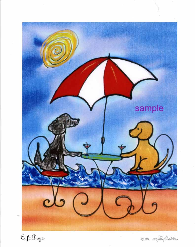 Cafe Dogs by Kathy Crabbe
