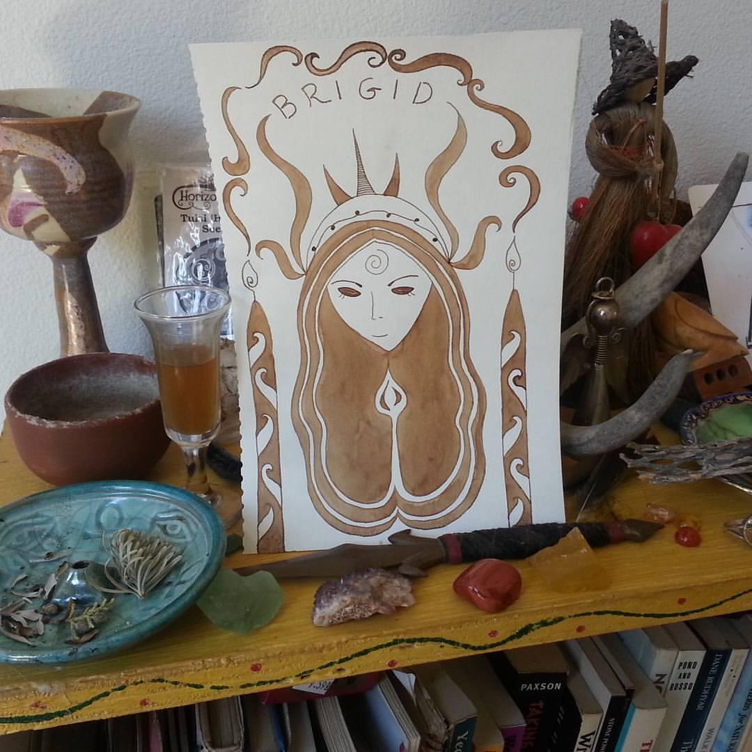 Brigid-Day-Altar-with-Brigid-Painting-by-Kathy-Crabbe.jpg