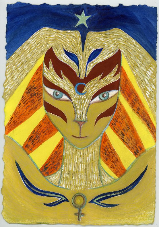Goddess Bast by Kathy Crabbe