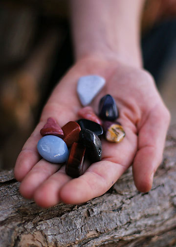 Healing stones by Kathy Crabbe