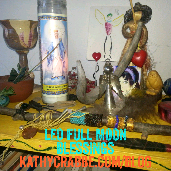 My Leo Full Moon altar