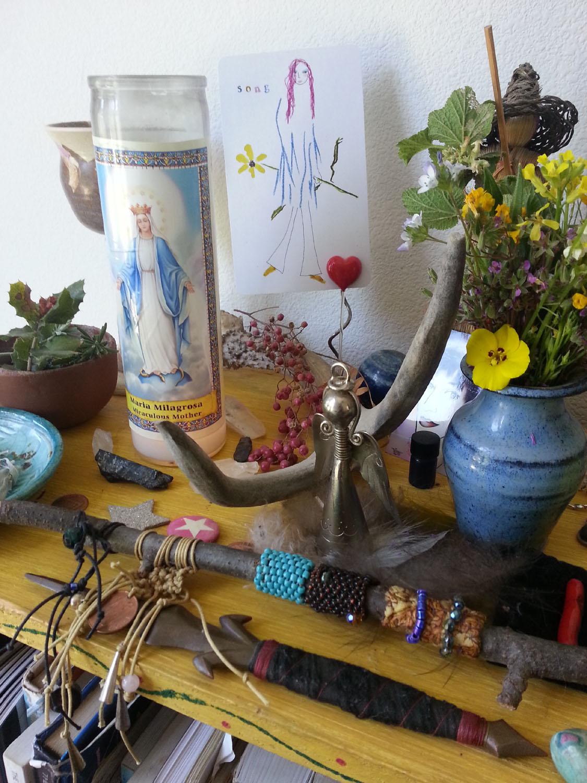 My Virgo Full Moon Altar