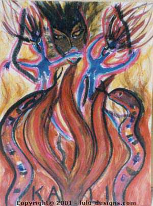 Kali (Aries Goddess) by Kathy Crabbe