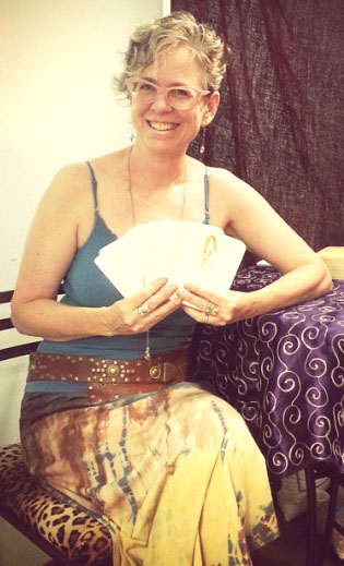 Giving readings at Karma Boutique, San Diego, CA