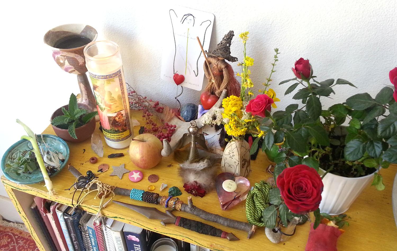 My Scorpio Full Moon Altar