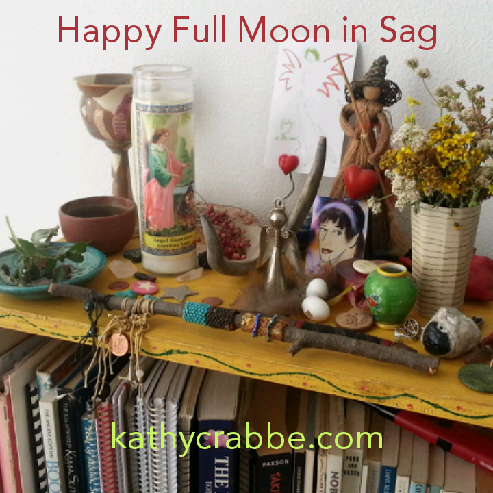 Full Moon in Sagittarius altar by Kathy Crabbe