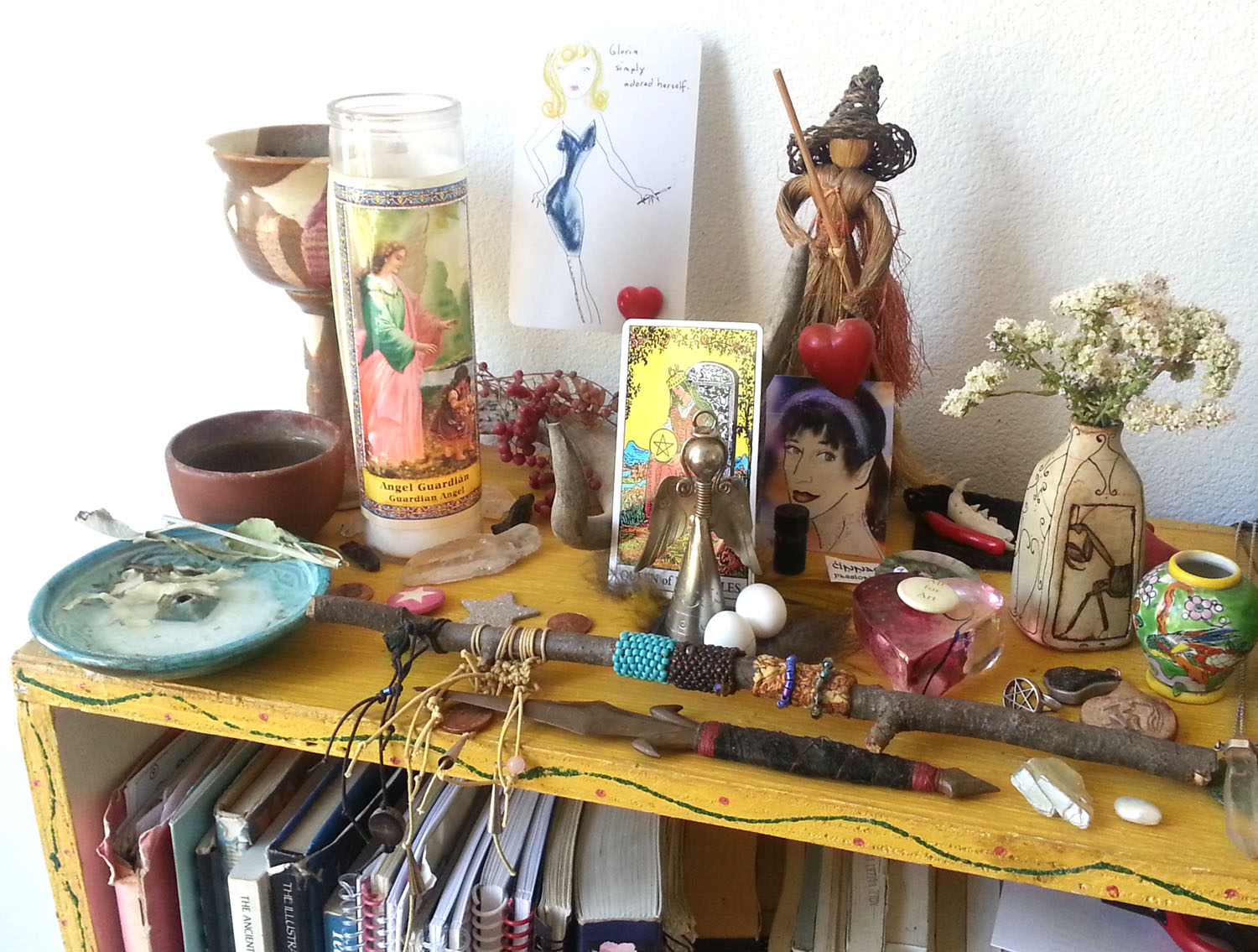Cancer New Moon Altar by Kathy Crabbe