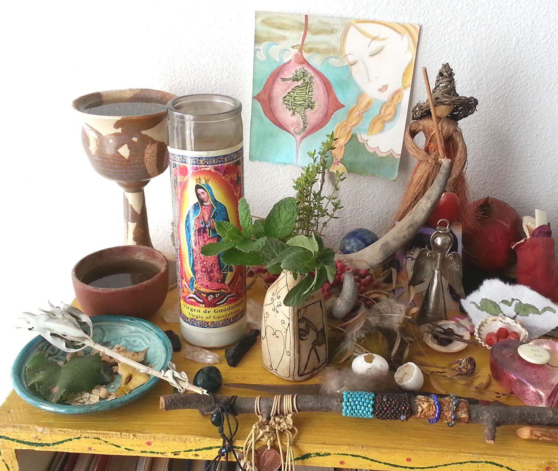 Libra New Moon Altar.