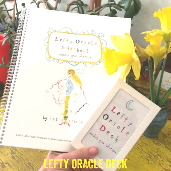 Lefty Oracle Deck and Book by Kathy Crabbe