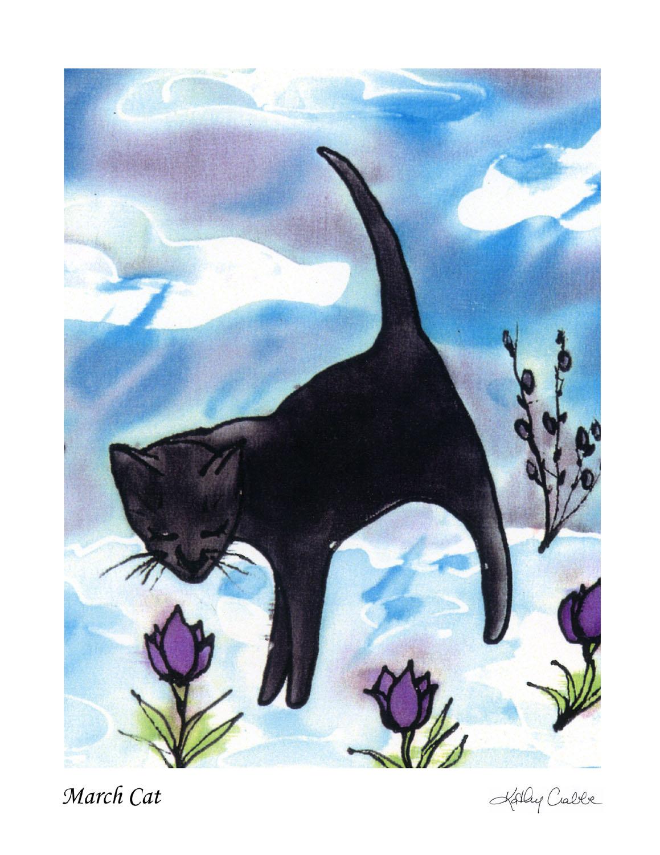 March Cat Print
