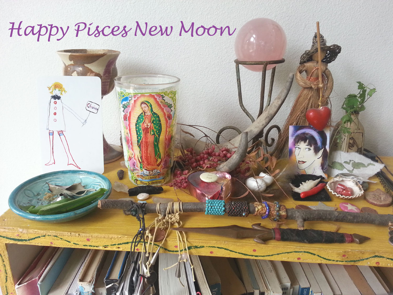 Pisces New Moon Altar by Kathy Crabbe