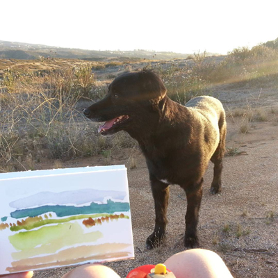 Painting plein air, Temecula, California
