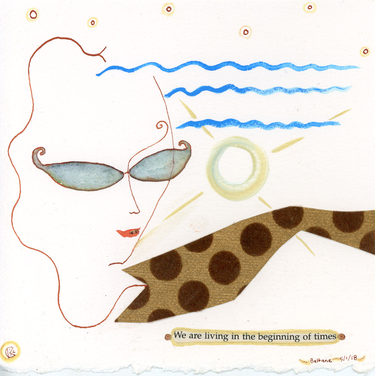 We are living in the beginning of times by Kathy Crabbe. The original is available  here .