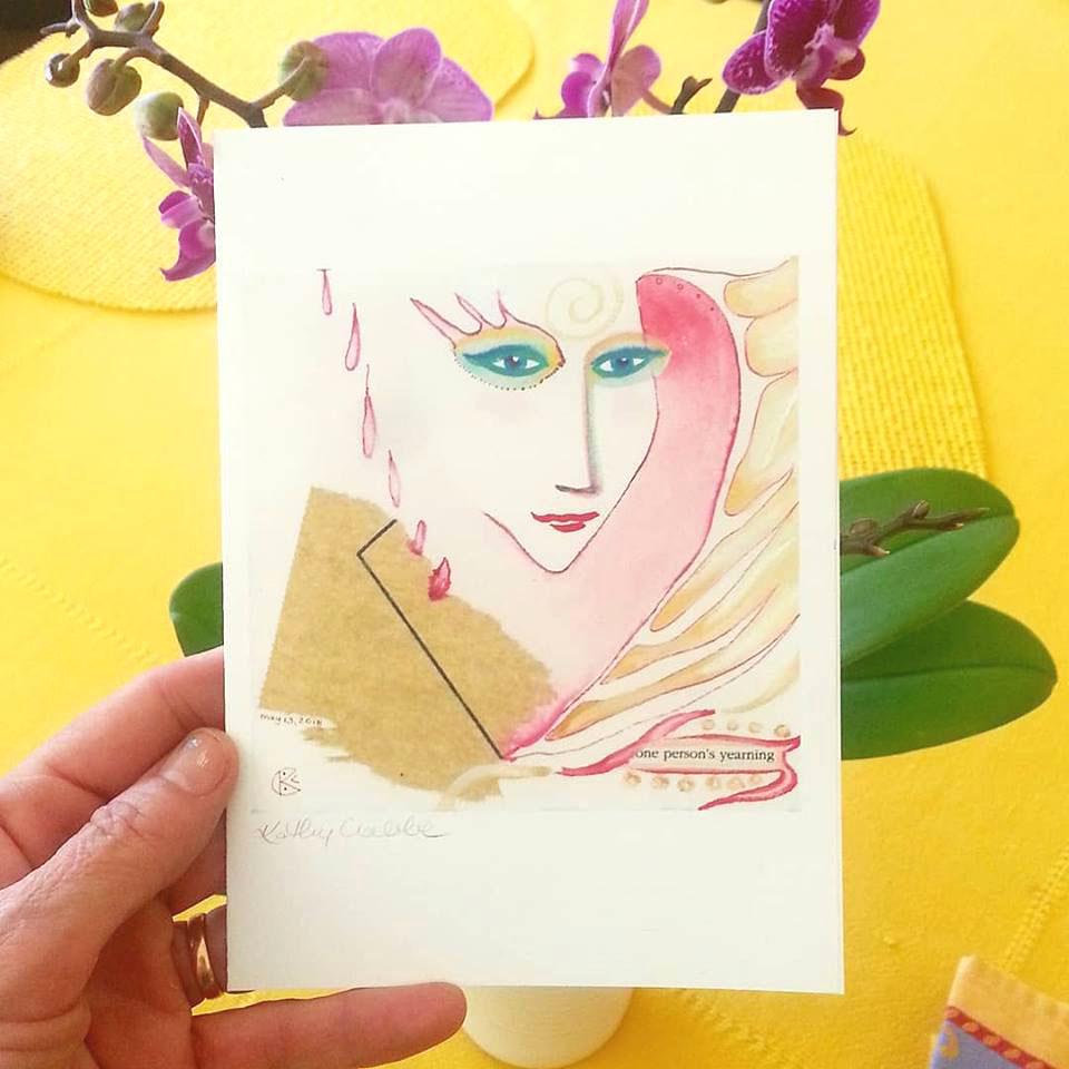 Crone Club Notecard by Kathy Crabbe