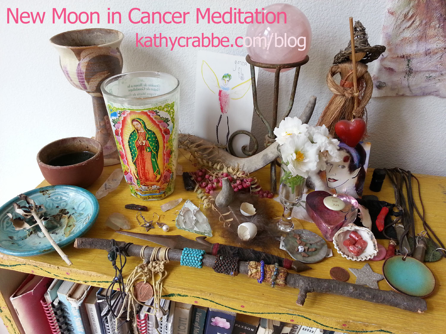New Moon in Cancer Altarr by Kathy Crabbe