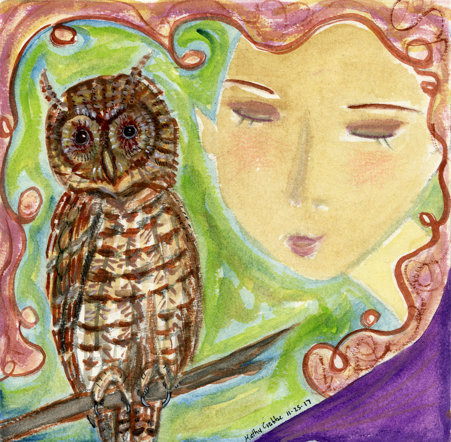 Owl Heart by Kathy Crabbe
