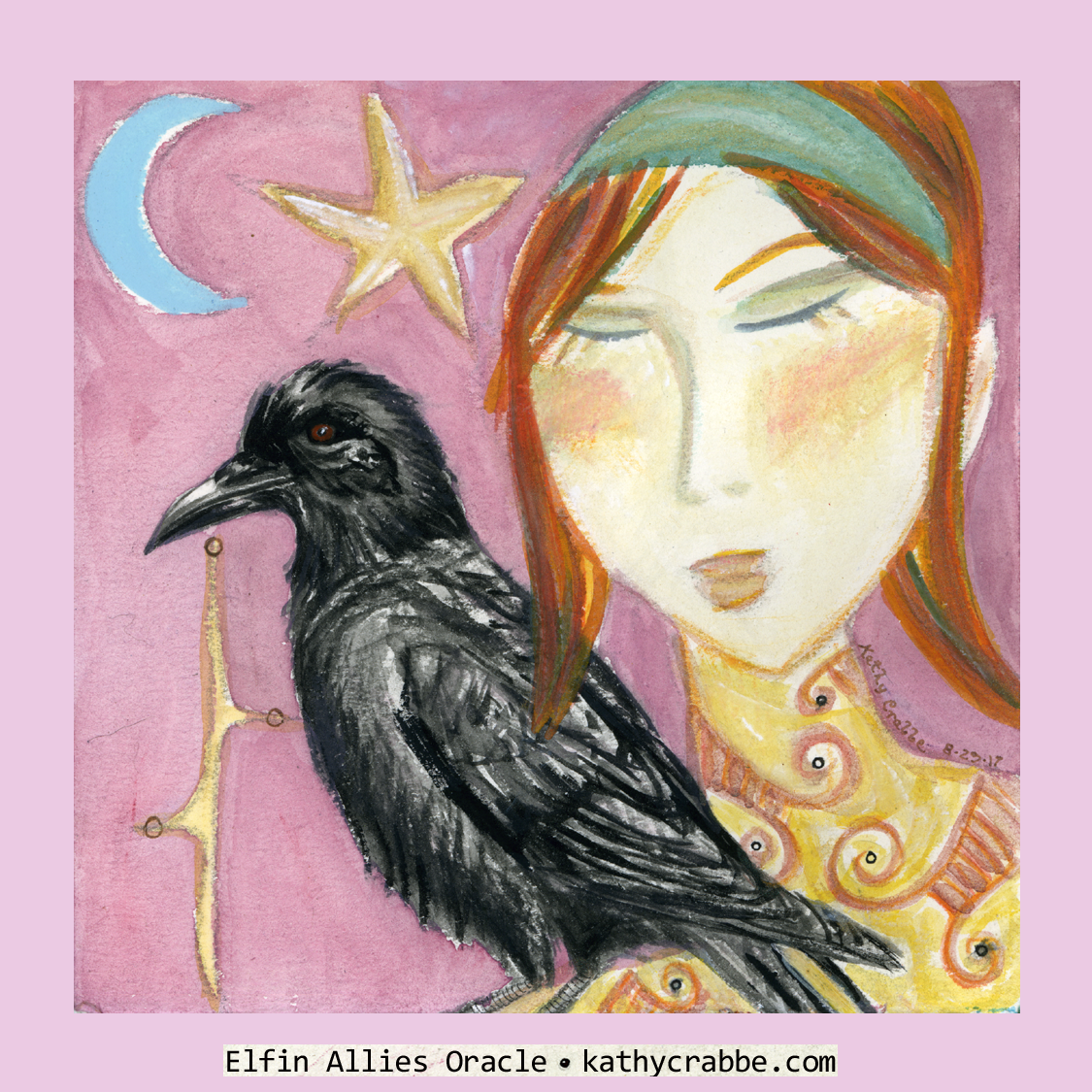 Raven Spirit by Kathy Crabbe from the   Elfin Ally Oracle Deck   .