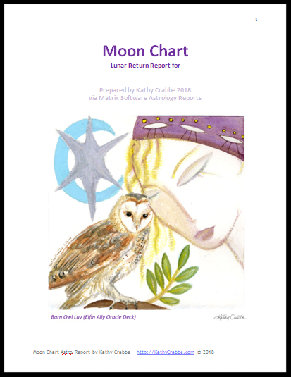 Moon Chart Astrology Report by Kathy Crabbe
