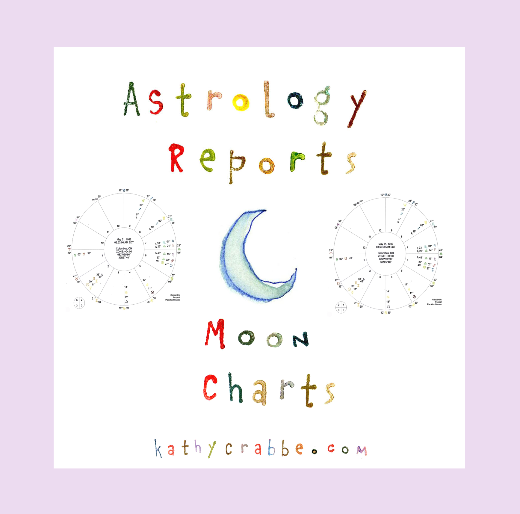 Astro Reports Moon Charts by Kathy Crabbe
