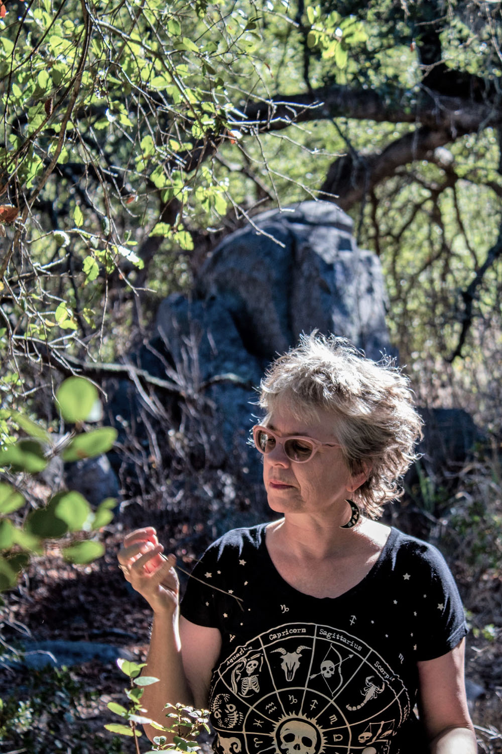 Kathy Crabbe at the Plateau, California