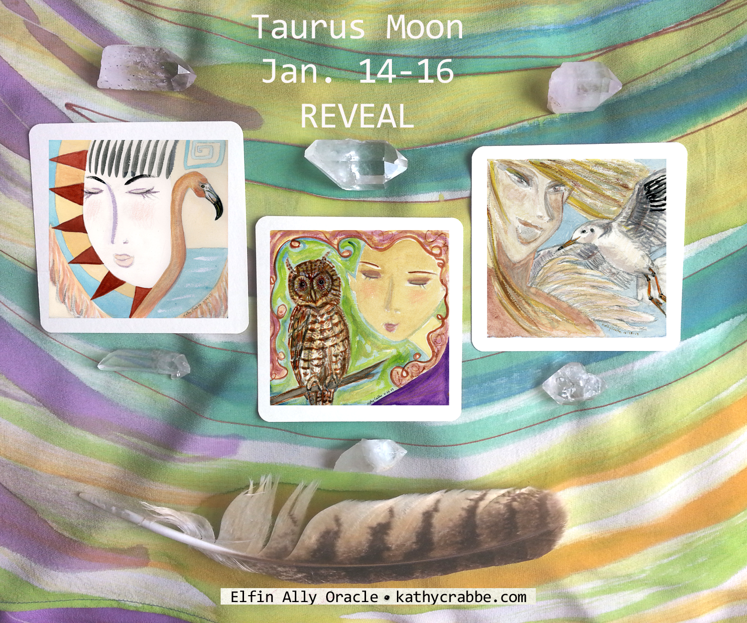 Taurus Moon Elfin Ally Oracle REVEAL by Kathy Crabbe
