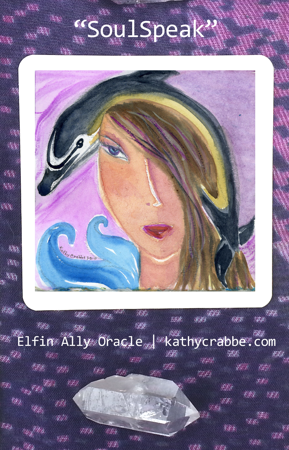 SoulSpeak Dolphin - Libra Moon Elfin Ally Oracle by Kathy Crabbe