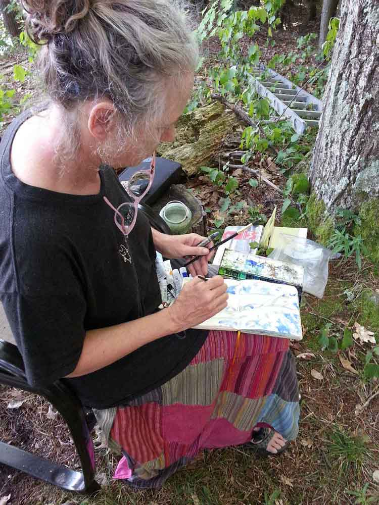 Painting my very first Elfin Allly Oracle, 1000 Islands, Canada (Frontenac Arch Biosphere)