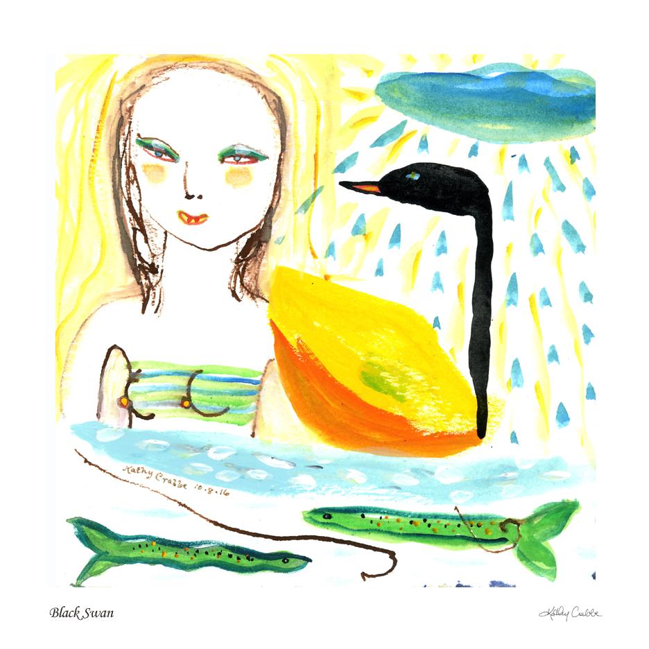 Black Swan by Kathy Crabbe (Elfin Ally Oracle)