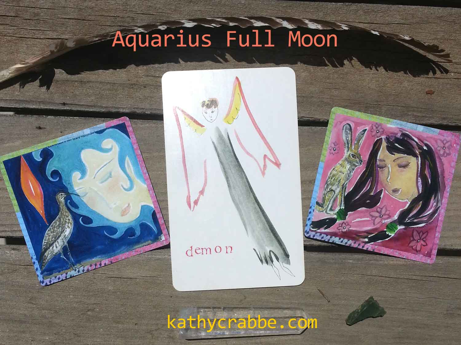 Aquarius-Full-Moon-Cards by Kathy Crabbe