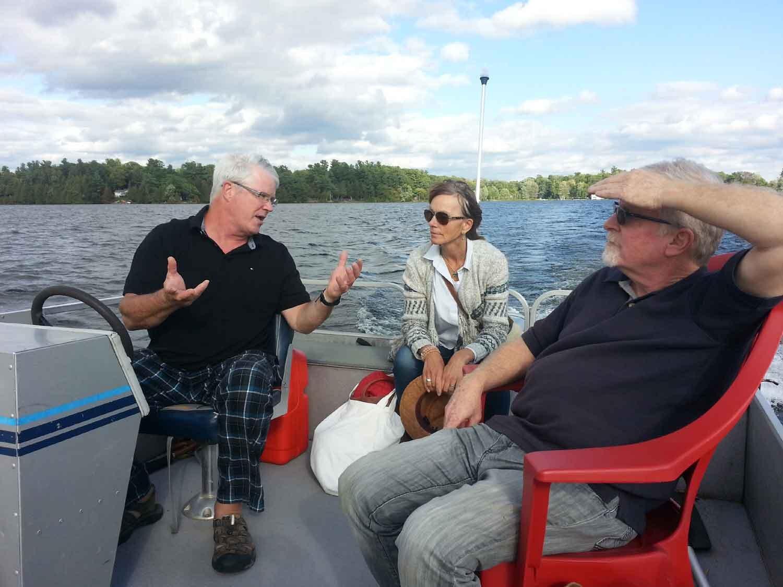 Boating to George's Island