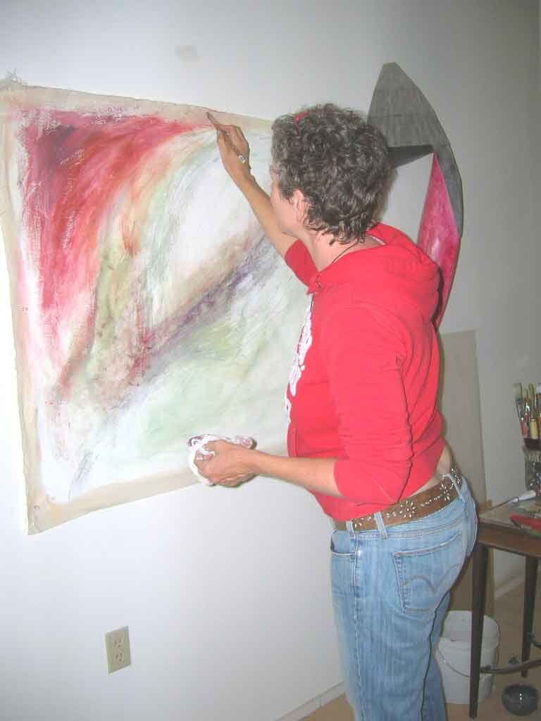 Painting the Journey into Intimacy Series (Divine Feminine Abstracts), Portland, OR