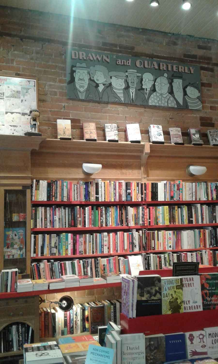 Visit to Drawn and Quarterly bookstore, Montreal
