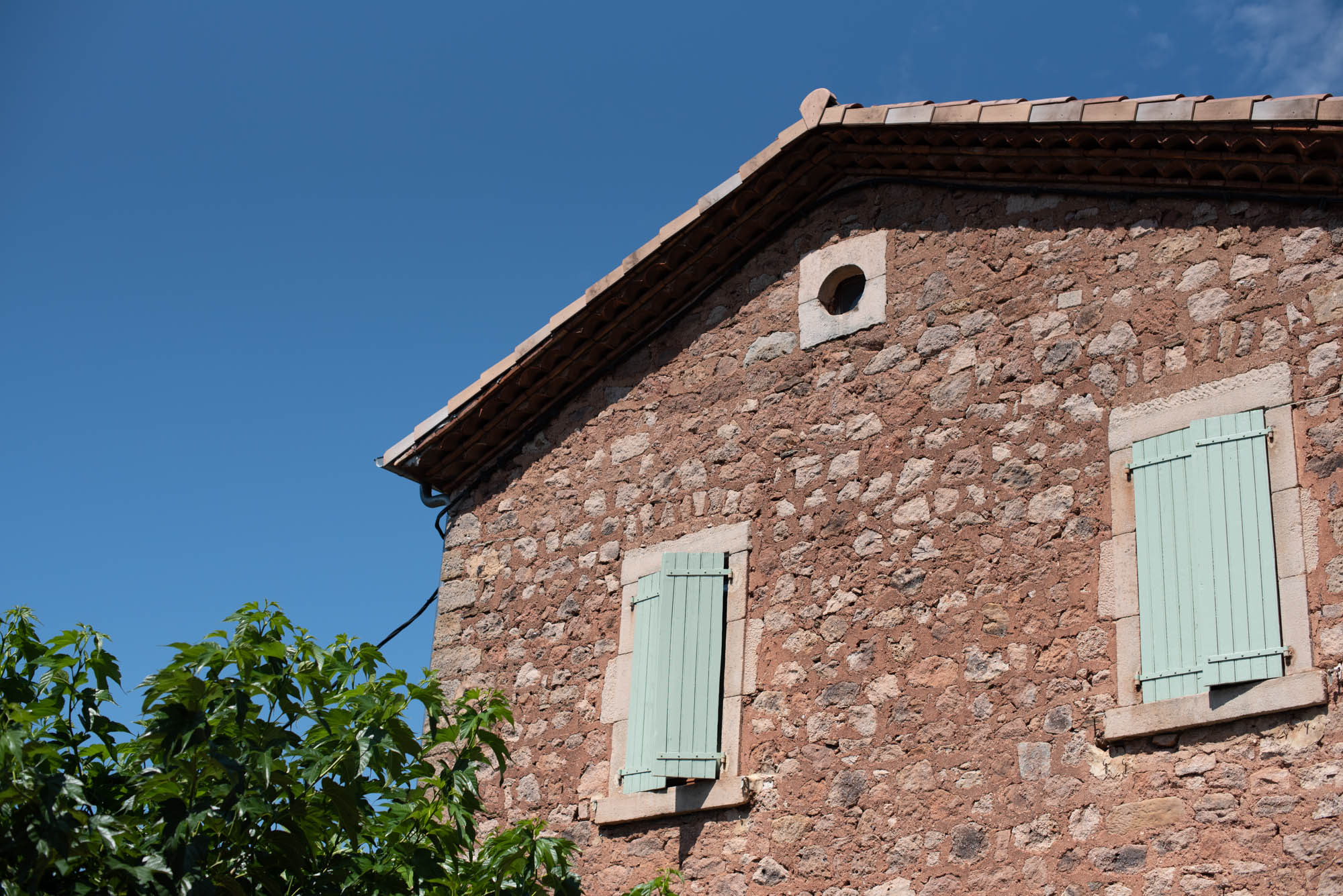 Shutters on the home in Ardeche
