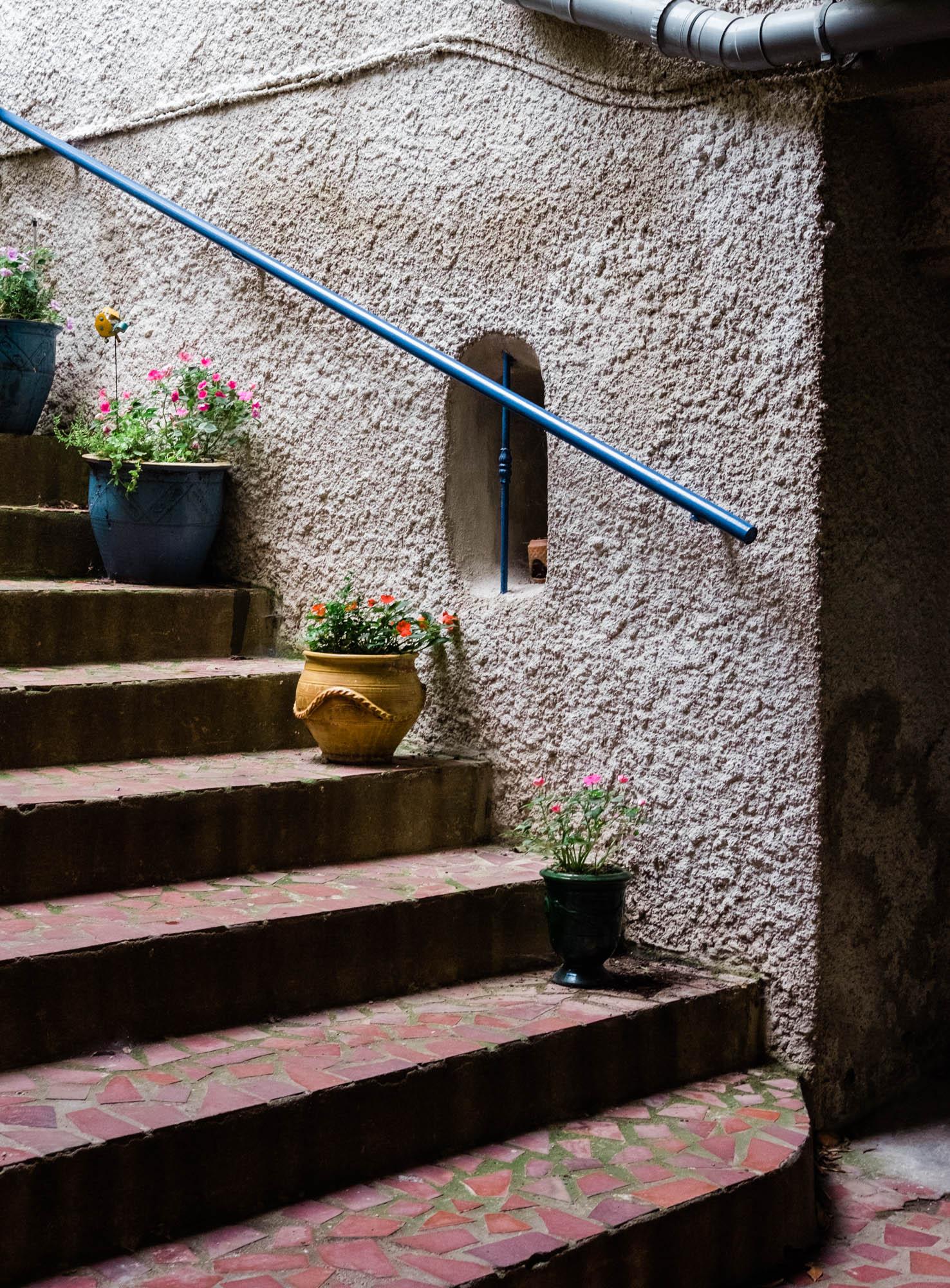 Steps inside the family home