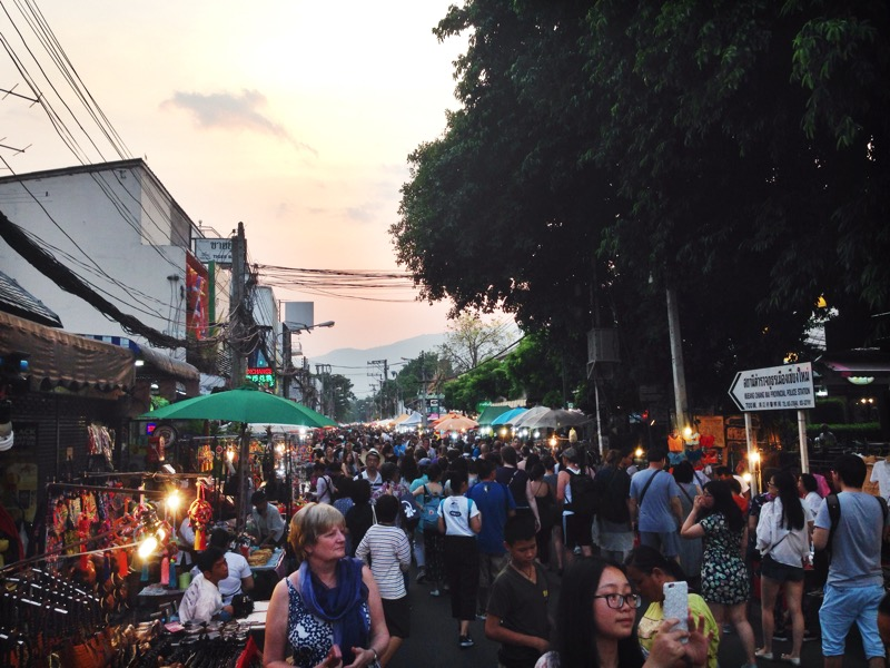The entrance to the Chiang Mai Sunday Market