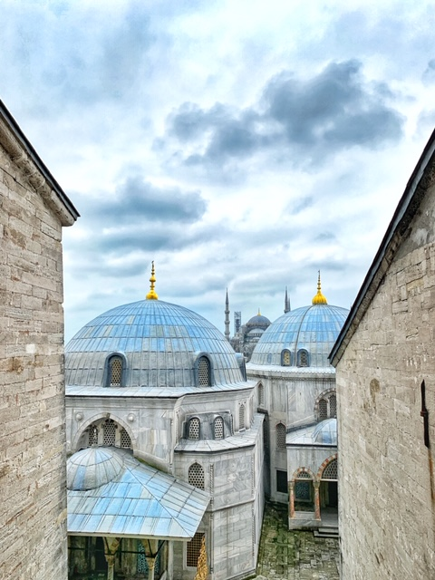 view of the blue mosque from the hagia sophia