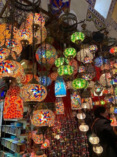lamps being sold in the grand bazaar
