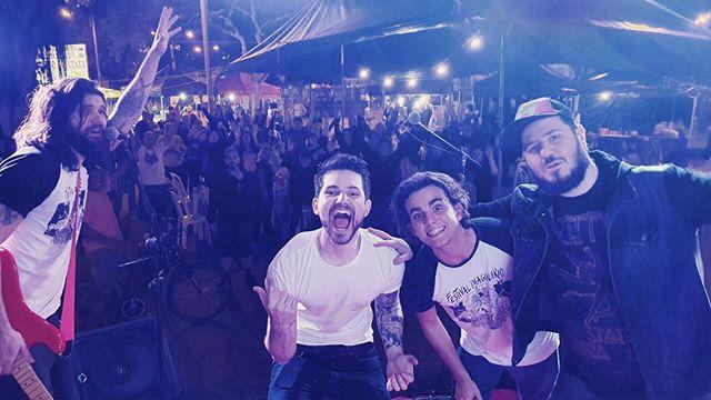 Aaa, a nossa tijuca 💚💕 #gig #rock #band #tijuca