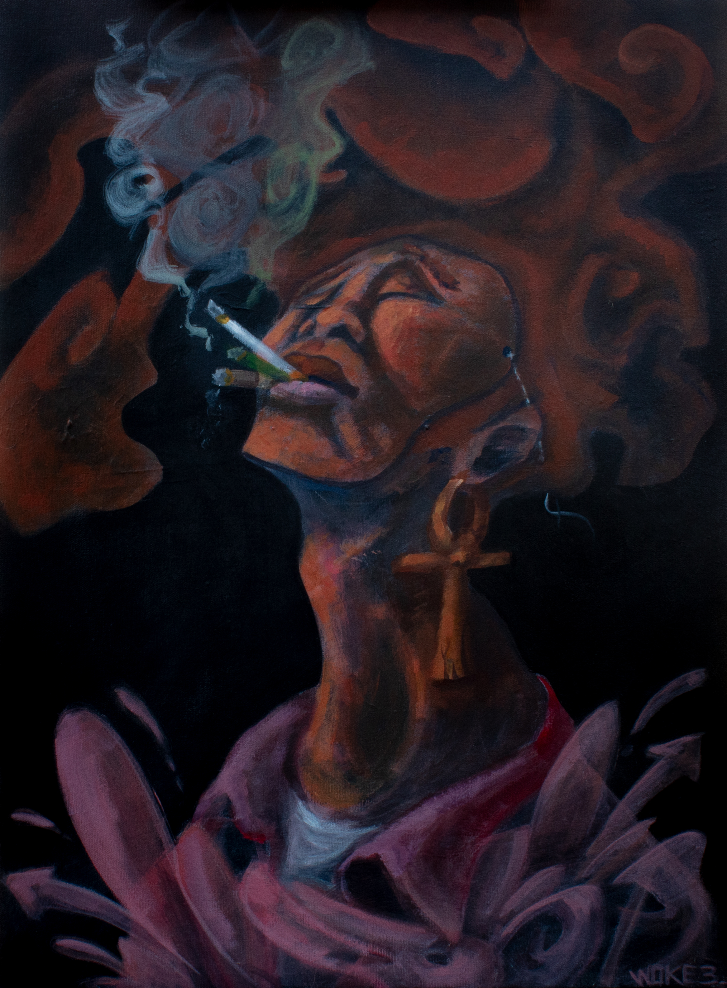 """""""Just one hit"""" / Acrylic on canvas / 2018"""