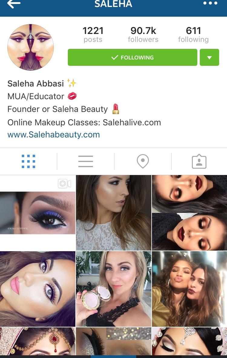Saleha Beauty Instagram Feature